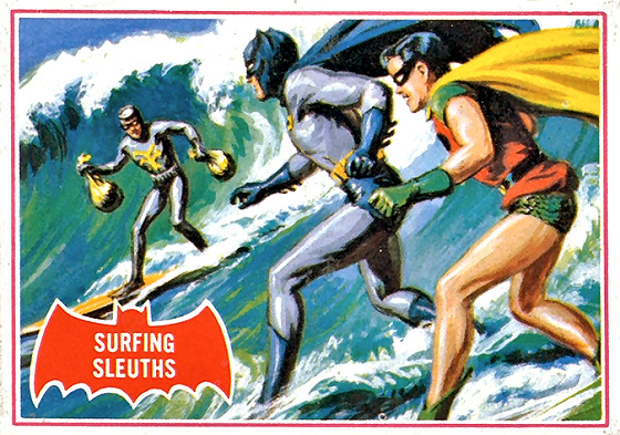 Surfing super heroes: Batman and Robin are natural footers