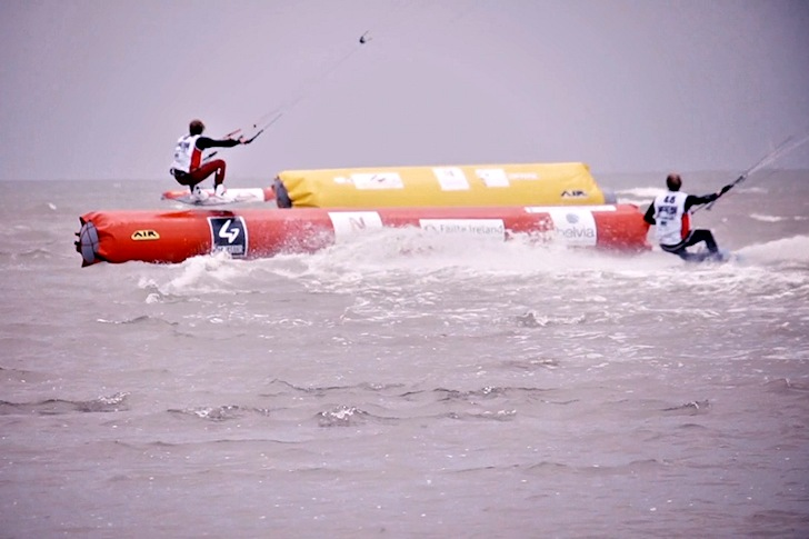 Battle for the Bay 2014: jumping over buoys in Dublin