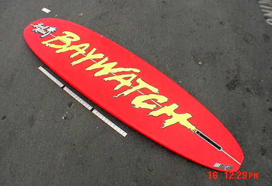 Baywatch surfboard: available for only one million dollars