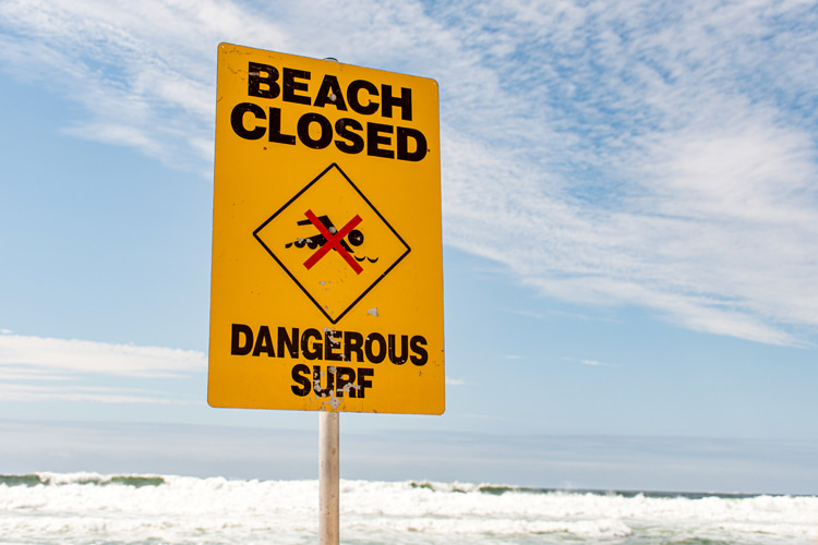 High surf advisory: big waves can quickly kill an unexperienced wave rider | Photo: Shutterstock