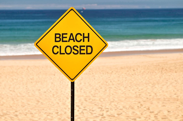 Beach closed: no funding, no fun