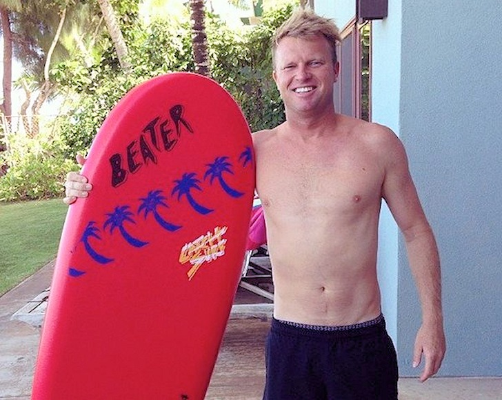 Taj Burrow: he loves his Beater board