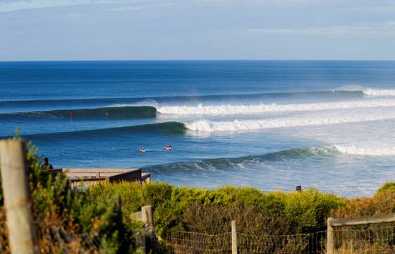 Bells Beach: there is always a surfer riding waves here