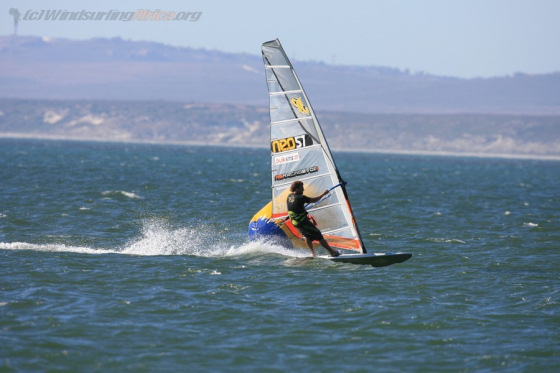 Ben van der Steen won the last stage of the South African Windsurfing Championships in Langebaan