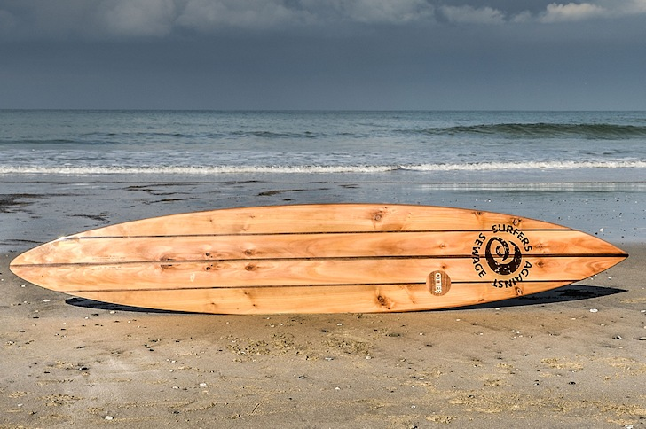 BenWoodGo surfboard: made of wood for big waves | Photo: SAS