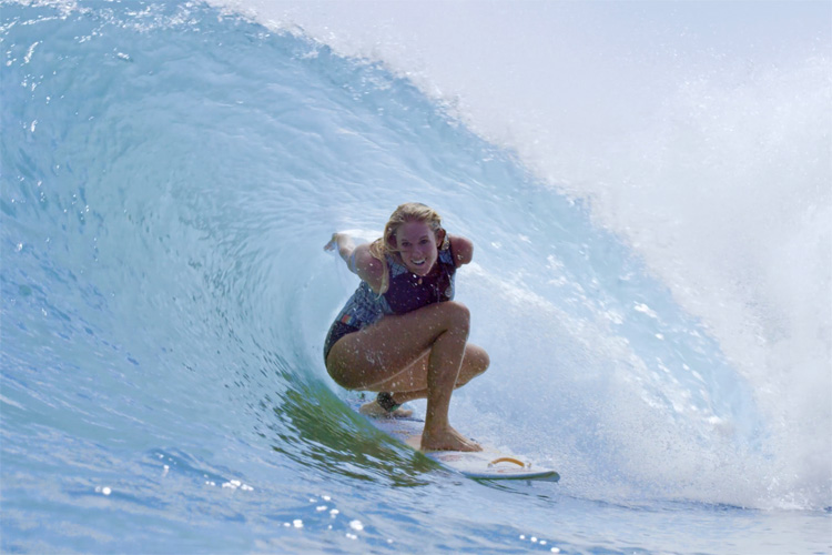 Bethany Hamilton: getting barreled at Surf Ranch