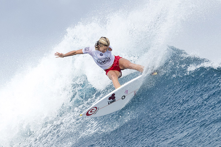 Bethany Hamilton: a power surfer | Photo: Cestari/WSL