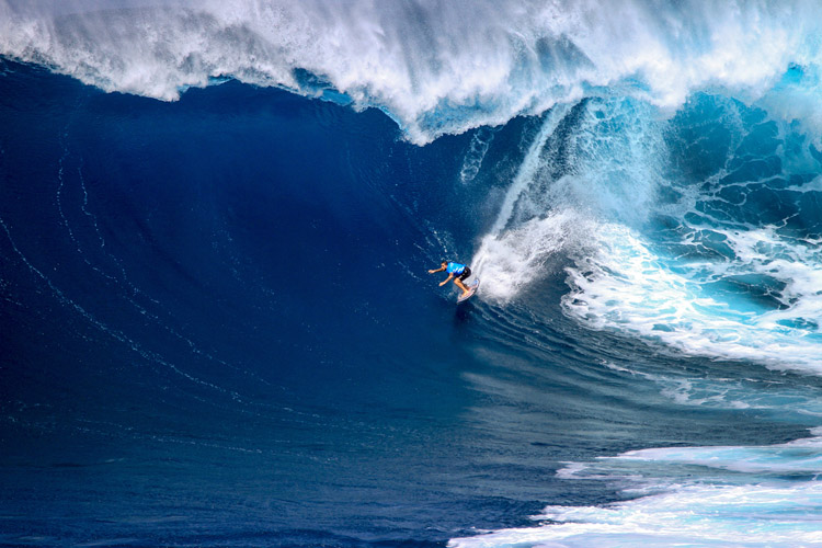 Billy Kemper: putting out a solid performance at Peahi | Photo: Lynton/WSL