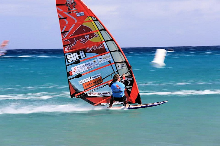 Bjorn Dunkerbeck is the 2014 European Speed Windsurfing champion