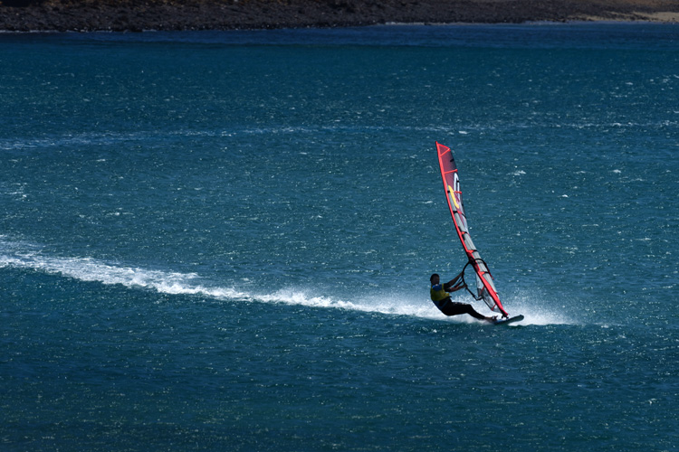 Björn Dunkerbeck: the world champion will be leading the windsurfing fleet in Tarifa | Photo: Schurgers/Red Bull