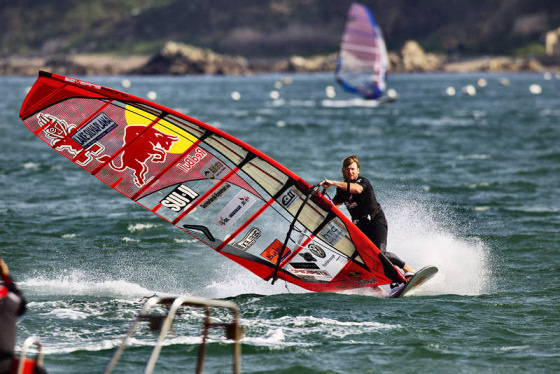 Bjorn Dunkerbeck: preparing to claim several windsurfing awards