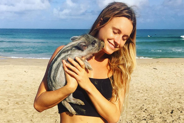 Alana Blanchard: animal lover and vegan