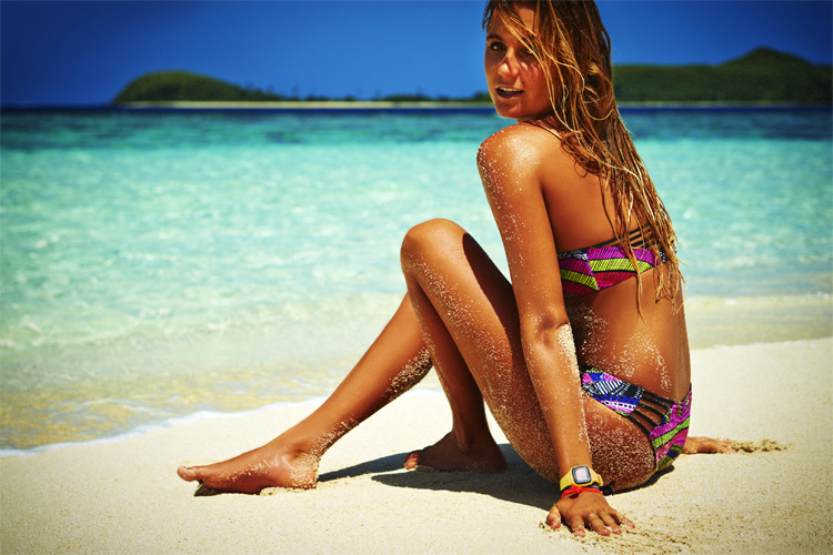 Alana Blanchard: she is involved in the bikini design process