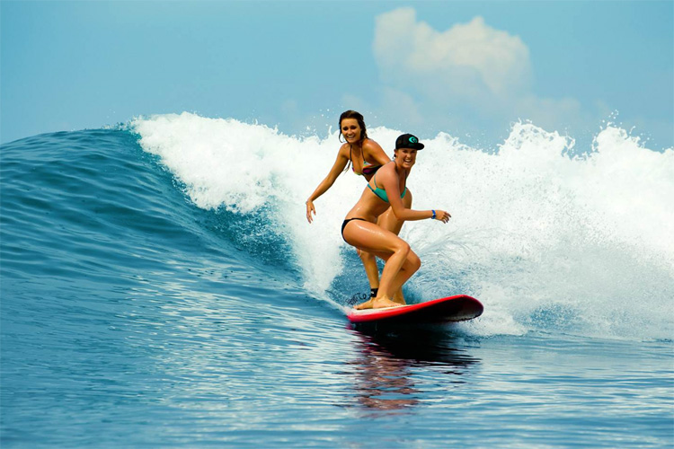 Alana Blanchard and Bethany Hamilton: friends for life