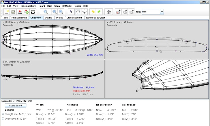BoardCAD: shaping surfboards for dummies