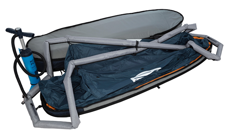 BoardSwag: protects your surfboard during the day, and lets you sleep in it for the night | Photo: BoardSwag