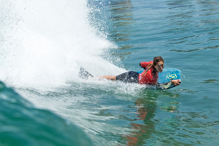 Bottom turn: a key maneuver in bodyboarding | Photo: Jimenez/ISA