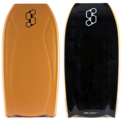BodyboardBodyboard: the deck (left), the slick (right), and the channels