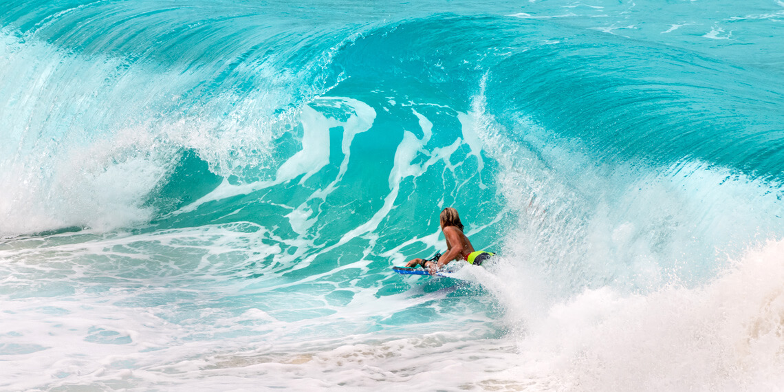 Bodyboards: made of three main core materials: dow polyethylene foam (PE), polypropylene foam (PP), and extruded polystyrene (EPS) | Photo: Shutterstock
