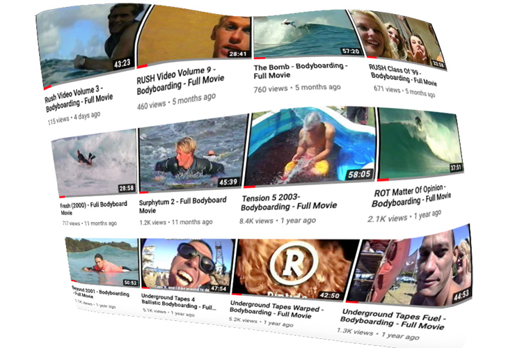 Bodyboarding Archives: a vintage boogie movie channel available on YouTube