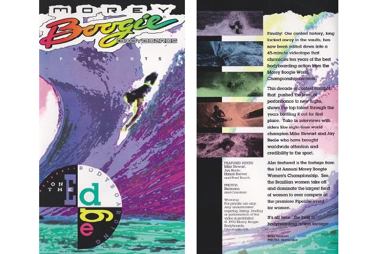 Morey Boogie Bodyboards Presents: Bodyboarding on the Edge: the VHP tape