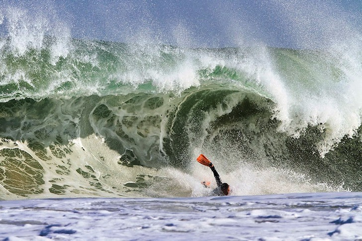 Bodyboard wipeout: need wax, dude? | Photo: Luk
