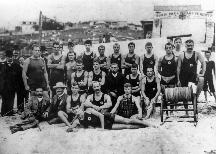 Bondi Surf Club: the founding members in 1906
