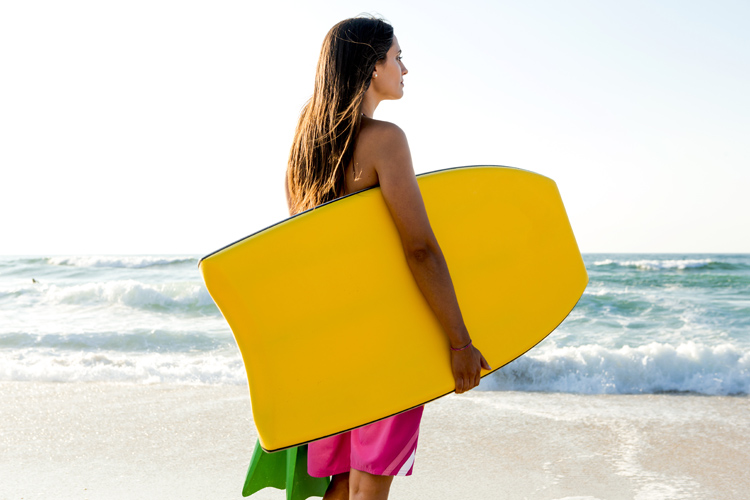 Boogie board: an expression coined by Tom Morey when he invented the bodyboard | Photo: Shutterstock