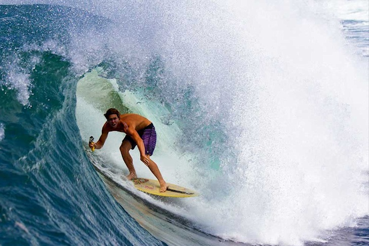 Brad Domke: master of big wave skimboarding | Photo: Exile Skimboards