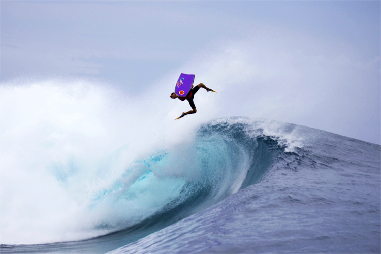 Brahim Iddouch: an inverted air that ended up in the reef | Photo: APB