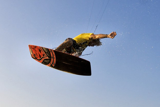 Brandon Scheid: water and snow kiteboarder