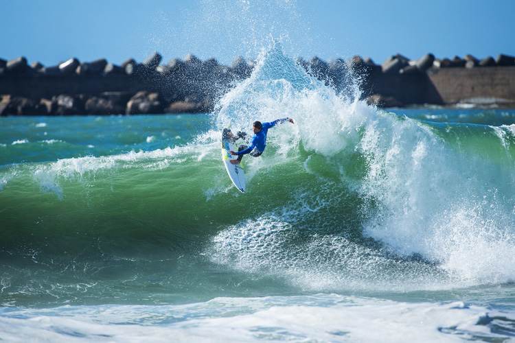 Brett Simpson: strong performance in Peniche | Photo: Poullenot/WSL