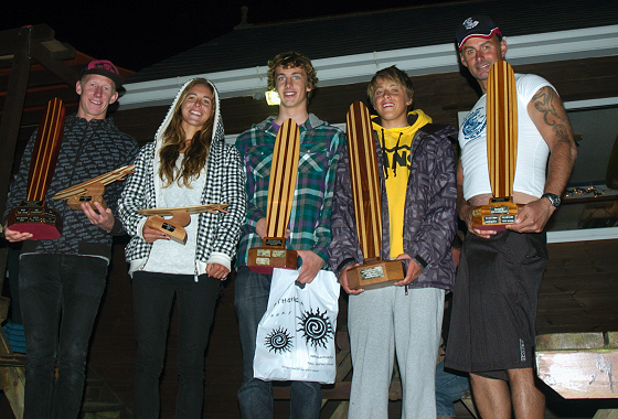 The UK Longboard champions: guess who's James Parry