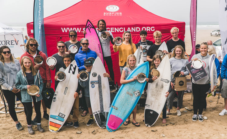 2018 English National Surfing Championships: 19 new champions have been crowned | Photo: Surfing England
