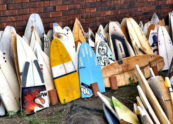 Surfboards: lots of ding repair ahead