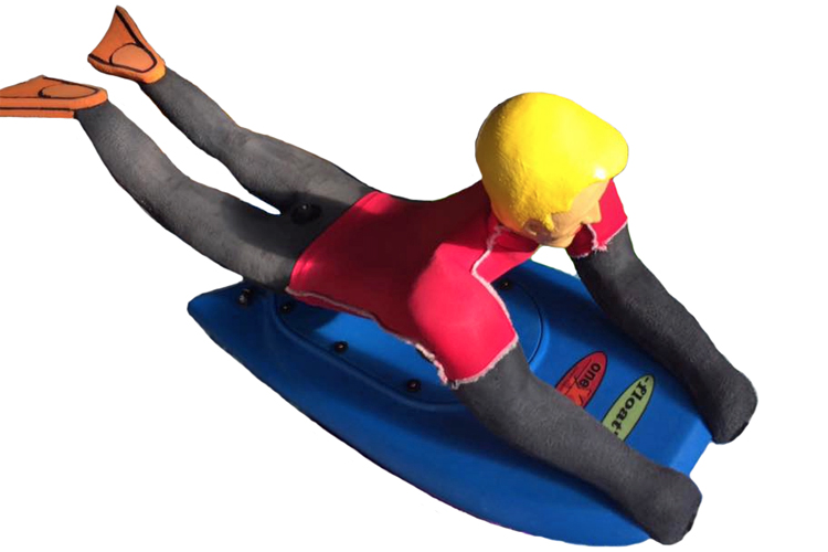 Bro RC Bodyboarder: a radio-controlled boogie boarder that lands a bagful of tricks