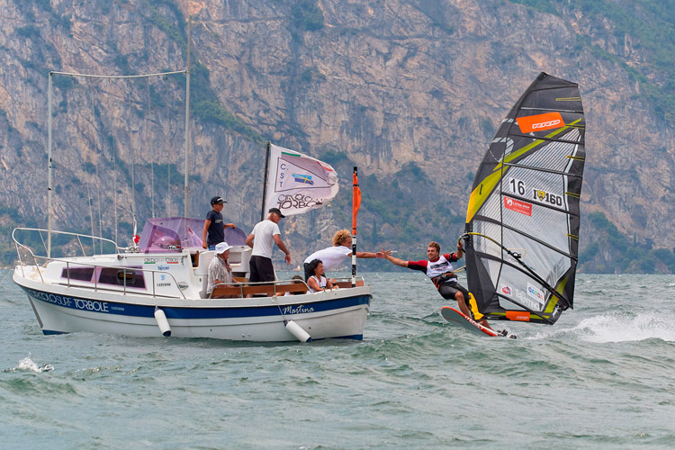 Bruno Martini: he set a new record at Lake Garda | Photo: Mochen/CSTorbole