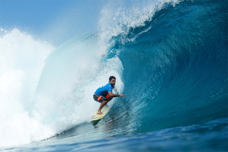 Bruno Santos: Teahupoo is his second home | Photo: WSL