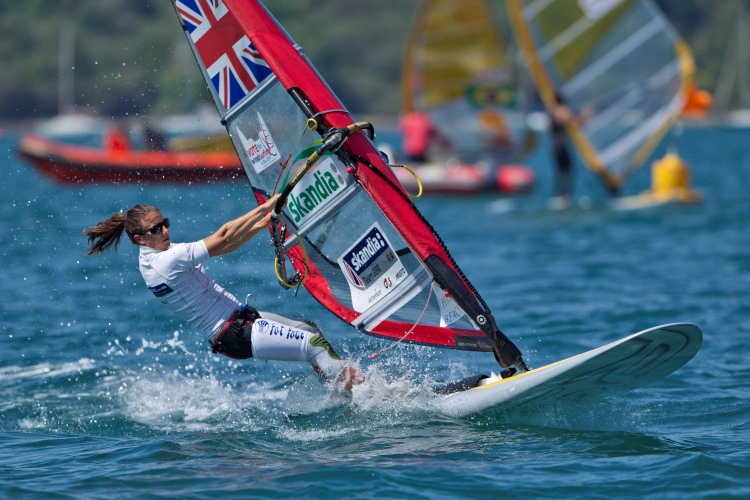 Bryony Shaw: this girl wins windsurfing medals | Photo: British Sailing Team