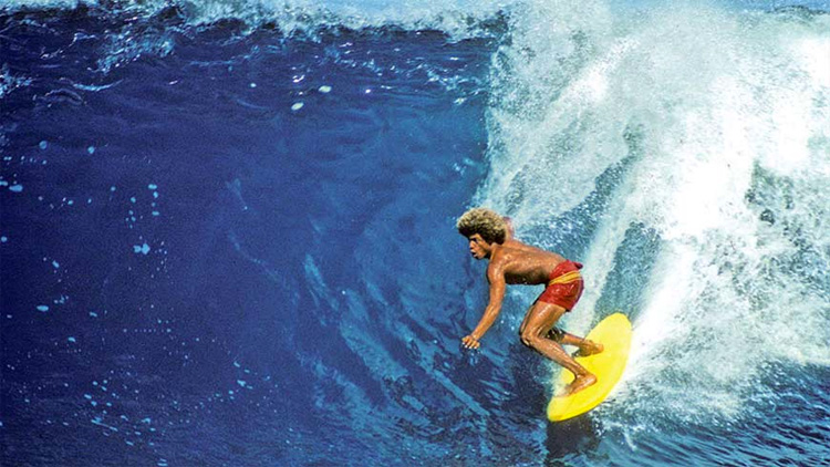 Montgomery Buttons Kaluhiokalani: a legend has many surfboards