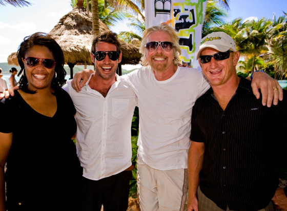Richard Branson supports the BVI Kite Jam