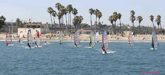 2010 Cabrillo Beach Enduro Race: the palm trees are in perfect shape | Photo: Daniel Gallet