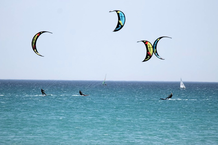 Poetto Beach: Cagliari's kite spot