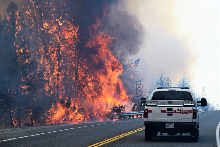 Wildfires: average air temperatures in California rose nearly two degrees Fahrenheit during the second half of the 20th century | Photo: Creative Commons