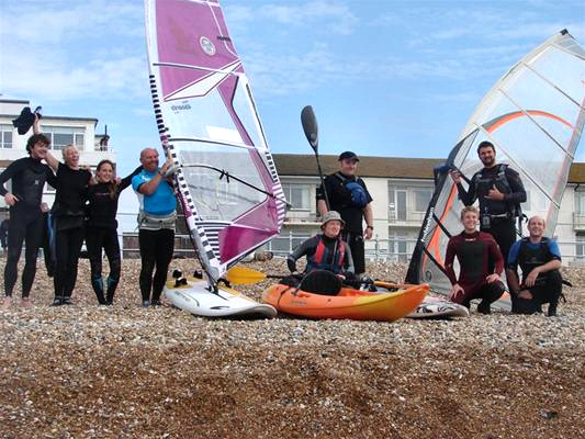 Bexhill to Camber Challenge: congrats, boys