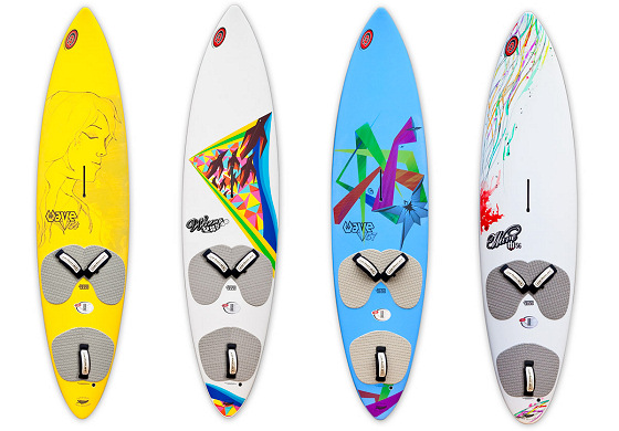 Carbon Art gear: colourful boards