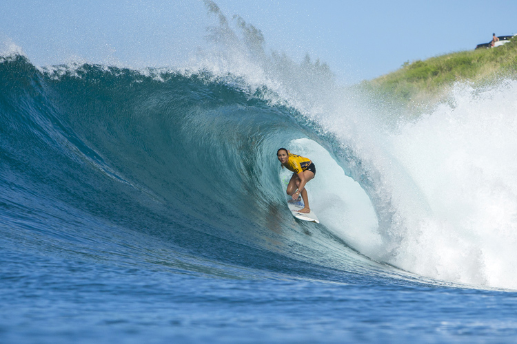 Carissa Moore: barreled and victorious | Photo: Poullenot/WSL