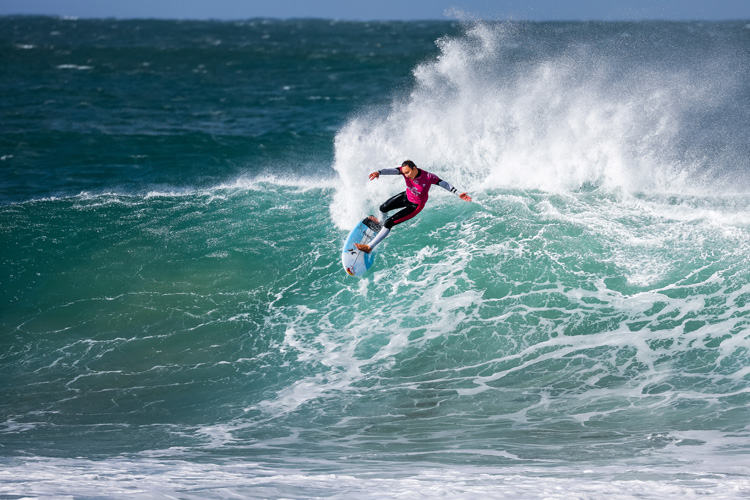 Carissa Moore: drawing beautiful lines at Jeffreys Bay | Photo: Tostee/WSL