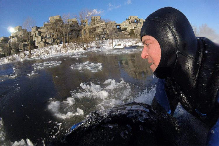 Carlos Hebert: he pioneered bodyboarding on ice