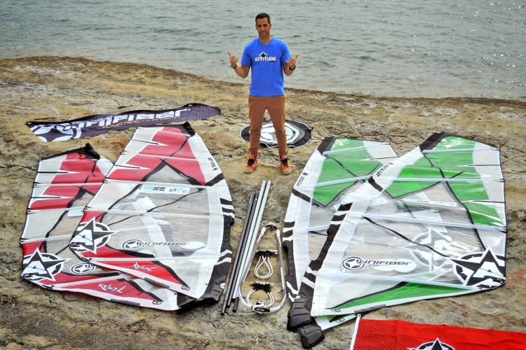 Carlos Pro: a real windsurfer with real sails